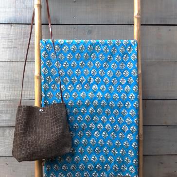 Tissu indien en voile de coton vendu à la coupe par Maison Pouic