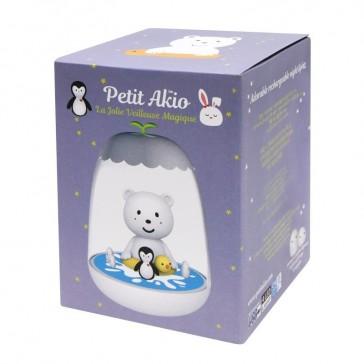 """Veilleuse pour enfant rechargeable avec variation d'intensité lumineuse """"Ours"""" par Petit Akio"""