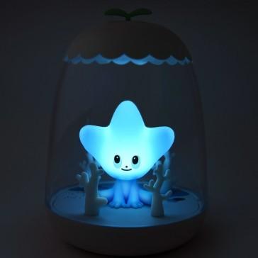 """Veilleuse rechargeable magique """"Etoile de mer"""" par Petit Akio"""