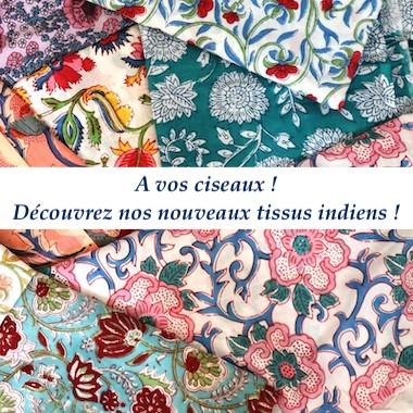Nouvelle collection de tissu indien